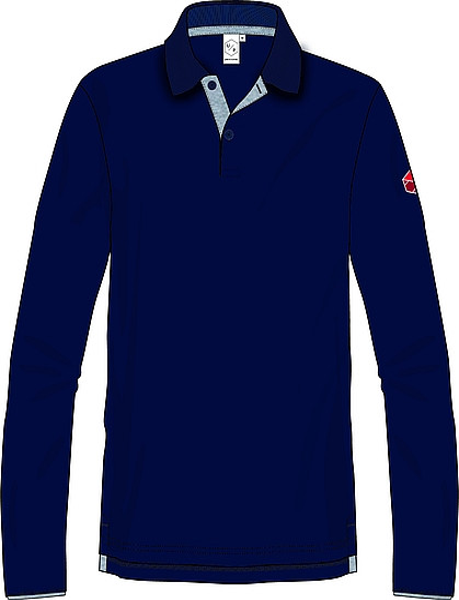 Poloshirt, langarm, Unisex, NEU